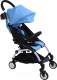 Детская прогулочная коляска Yoya Miniapple DHBS008/BWF (голубой/белый) -