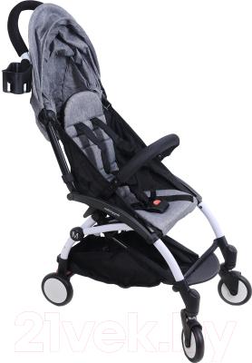Детская прогулочная коляска Yoya Miniapple DHBS008/GWF (серый/белый)