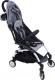 Детская прогулочная коляска Yoya Miniapple DHBS008/GWF (серый/белый) -