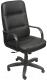 Кресло офисное Евростиль Зенит Стандарт Split кожа (черный) -