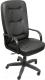 Кресло офисное Евростиль Сенатор Стандарт Split кожа (черный) -