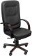 Кресло офисное Евростиль Сенатор Экстра Split кожа (черный) -