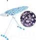 Гладильная доска Adali Elips Pro (белые узоры на фиолетовом) -