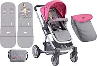 Детская прогулочная коляска Lorelli S-500 Rose Grey Girl (10020931740) -