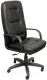 Кресло офисное Евростиль Пилот Стандарт Split кожа (черный) -