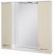 Шкаф с зеркалом для ванной Ювента Франческа ФШН33-87 (бежевый) -
