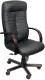 Кресло офисное Деловая обстановка Консул Экстра (орех/кожа черная) -