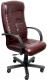 Кресло офисное Деловая обстановка Консул Экстра (венге/кожа люкс бордовый) -