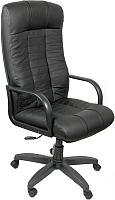 Кресло офисное Деловая обстановка Атлант Стандарт кожа (split/черный) -