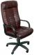 Кресло офисное Деловая обстановка Атлант Стандарт Люкс кожа (бордовый) -