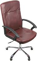 Кресло офисное Деловая обстановка Офелия Хром (коричневый) -