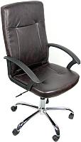 Кресло офисное Деловая обстановка Офелия Хром (темно-коричневый) -