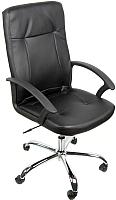 Кресло офисное Деловая обстановка Офелия Хром (черный) -
