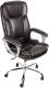 Кресло офисное Деловая обстановка Лагуна Люкс Хром (темно-коричневый) -