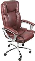 Кресло офисное Деловая обстановка Лагуна Люкс Хром (коричневый) -