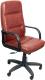 Кресло офисное Евростиль Зенит Стандарт Люкс кожа (коричневый) -