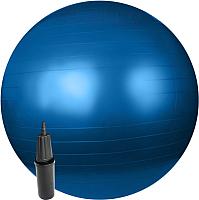 Фитбол гладкий Sundays Fitness IR97402-65 (голубой, с насососм) -