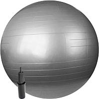Фитбол гладкий Sundays Fitness IR97402-75 (серебристый, с насосом) -
