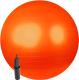 Фитбол гладкий Sundays Fitness IR97402-75 (оранжевый, с насосом) -