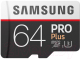 Карта памяти Samsung PRO+ microSDXC 64GB + адаптер (MB-MD64GA) -