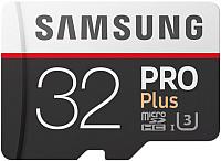 Карта памяти Samsung PRO+ microSDHC 32GB + адаптер (MB-MD32GA) -
