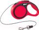 Поводок-рулетка Flexi New Comfort трос (XS, красный) -