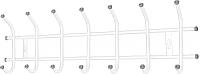Вешалка для одежды Ника ВНТ7 (белый) -