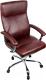 Кресло офисное Деловая обстановка Фаворит хром (коричневый) -