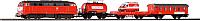 Железная дорога детская Piko Стартовый набор. Пожарный поезд 57153 -