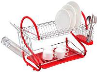 Сушилка для посуды Peterhof PH-12887 (красный) -