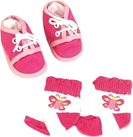 Аксессуар для куклы Simba Обувь и носочки для Младенца 105560844 -