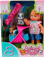 Кукла с аксессуарами Simba Эви с двумя собачками и коляской 105733080 -