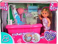 Кукла с аксессуарами Simba Эви с собачкой в ванной комнате 105733094 -