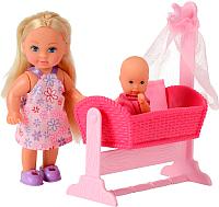 Кукла с аксессуарами Simba Эви с кроваткой 105736242 -