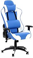 Кресло офисное Calviano Lucaro 362 Exclusive (синий/белый) -