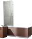 Стеклянная шторка для ванны Radaway EOS PNJ 70/L / 205102-101L -