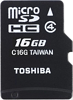 Карта памяти Toshiba M102 16GB microSD Class 4 + адаптер (THN-M102K0160M2) -