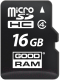 Карта памяти Goodram MicroSDHC 16GB Class 4 + SD-adapter (M40A-0160R11) -