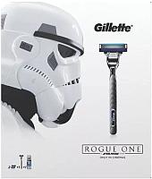 Подарочный набор Gillette Mach3 Turbo + Extra Comfort (станок +3кассеты + гель д/бритья) -