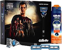 Подарочный набор Gillette Fusion ProShield Chill + Active Sport (станок +4кассеты + гель д/бритья) -