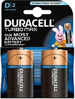 Батарейки D Duracell Turbo Max D 1.5V LR20 (2шт) -