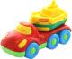 Набор игрушечных автомобилей Полесье Автомобиль для перевозки Дружок с корабликом Буксир / 48370 -