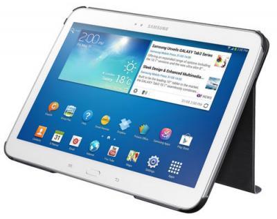 Чехол для планшета Samsung EF-BP520BBEGRU Black - использование чехла как подставки