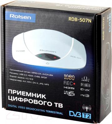 Тюнер цифрового телевидения Rolsen RDB-507NR