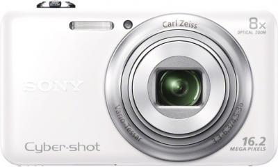 Компактный фотоаппарат Sony Cyber-shot DSC-WX60 White - вид спереди