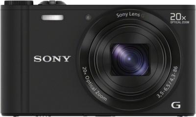 Компактный фотоаппарат Sony Cyber-shot DSC-WX300 (черный) - вид спереди