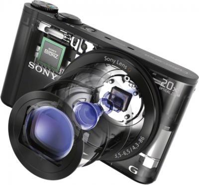 Компактный фотоаппарат Sony Cyber-shot DSC-WX300 (черный) - общий вид