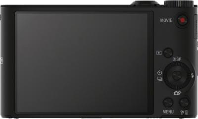 Компактный фотоаппарат Sony Cyber-shot DSC-WX300 (черный) - вид сзади