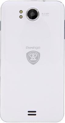 Смартфон Prestigio MultiPhone 5300 Duo (белый) - вид сзади