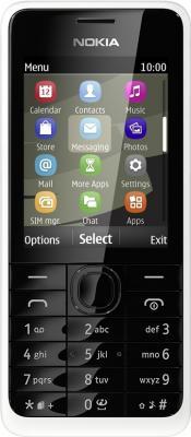 Мобильный телефон Nokia 301 Dual (White) - вид спереди